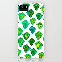Green gemstone pattern. iPhone Case