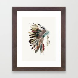 native headdress Framed Art Print