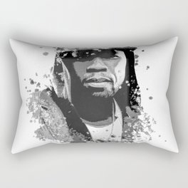50 Cent splatter painting Rectangular Pillow