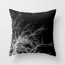 WHITE BRANCH Throw Pillow
