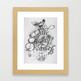 Sail Away Dreamer Framed Art Print