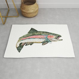 Rainbow Trout Collage Rug