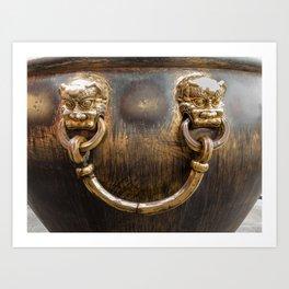 Chinese Water Cistern Art Print