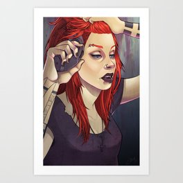 Petra 2.0 Pin-up Art Print