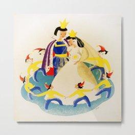 Vintage poster - Snow White Metal Print