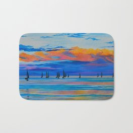 I'd Rather Be Sailing by Teresa Thompson Bath Mat