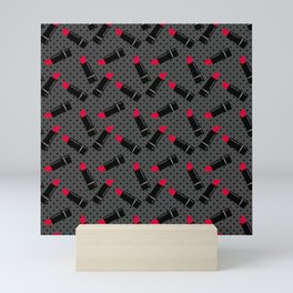 Red lipstick 2 Mini Art Print