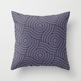 Circle Swirl Pattern VA Mystical Purple - Metropolis Lilac - Dried Lilacs Throw Pillow