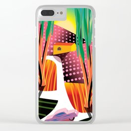 Sunset Curve Clear iPhone Case