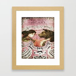 La Belle et la Bete Framed Art Print