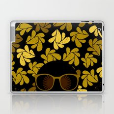 Afro Diva : Gold Laptop & iPad Skin