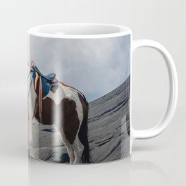 The Horse and the Volcano Coffee Mug