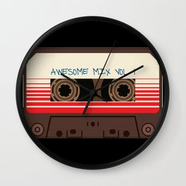 awesome mix vol 1 new hot 2018 CD love cute sticker cover iphone pattern casate art support design Wall Clock