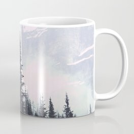 Evergreens in the fog edit Coffee Mug