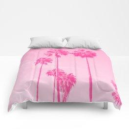 Pink Palms Comforters
