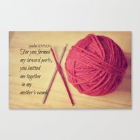 scripture Canvas Prints featuring Psalm 139 Baby Scripture by KimberosePhotography