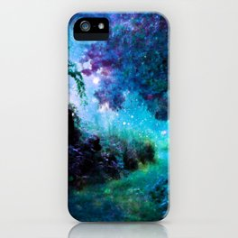 Fantasy Garden Path Teal Purple iPhone Case