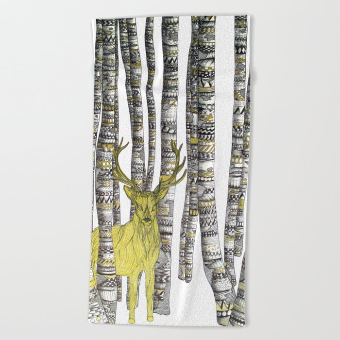 The Golden Stag Beach Towel