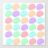 macaroon Canvas Prints featuring Macaroon by StarKillertheDreaded