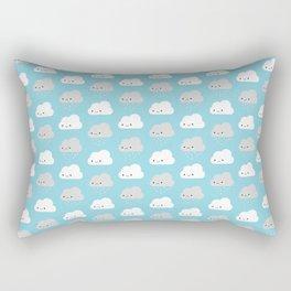 Happy and Sad Kawaii Clouds Rectangular Pillow