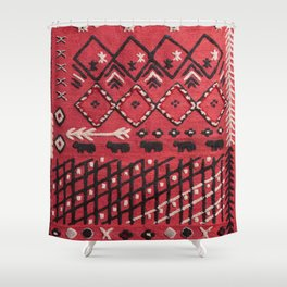 V22 Sheep herd Design Traditional Moroccan Carpet Texture. Shower Curtain