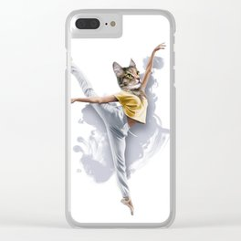 Dancing Cat Girl Pepe Psyche Clear iPhone Case