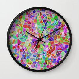 Positive multicolor realistic mozaic print Wall Clock