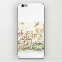 le petit prince iPhone & iPod Skins featuring Le petit prince by Lionel Hotz