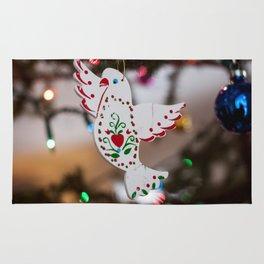 Christmas Dove Photography Print Rug