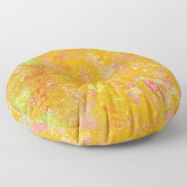 Delight, Marbled Abstract Art Painting Floor Pillow