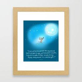 Yogi Mouse- Gratitude Framed Art Print