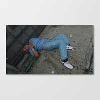 wasted rita Canvas Prints featuring Wasted by Sebastiano Carbone