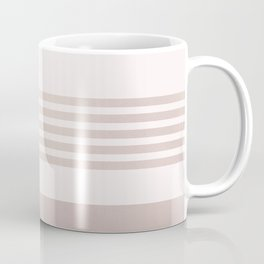 Rose Gold and Pink Stripes Mix Pattern 1 Coffee Mug