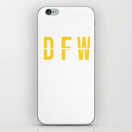 DFW - Dallas Fort Worth Airport Code - Texas Airport Code Souvenir or Gift Design iPhone Skin