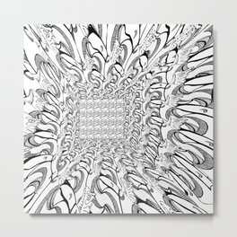 Perspective pattern Metal Print
