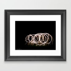 Sparklers in the Night Framed Art Print