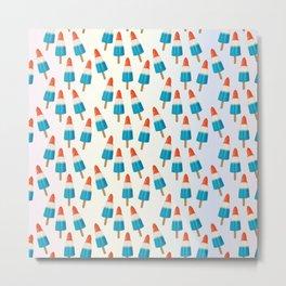 Blue Rockets Pattern Metal Print