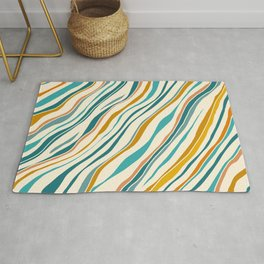 Summer Ocean / Teal & Gold Rug