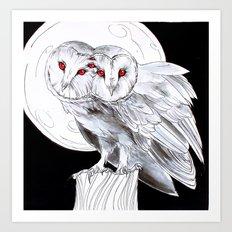Mutant Owls Art Print