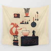 cooking Wall Tapestries featuring just keep cooking by blablasah