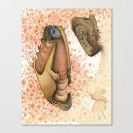 Click-eye Caterpillar Canvas Print