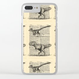 Dictionary Dinosaurs Clear iPhone Case