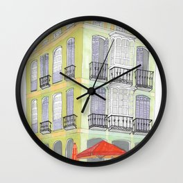 Morning in Malaga Wall Clock