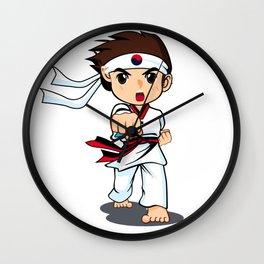 Taekwondo Boy Wall Clock