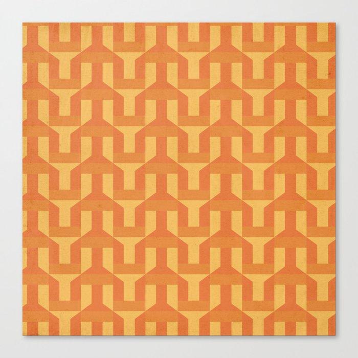 orange factory Canvas Print