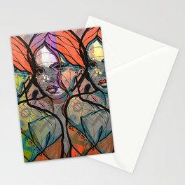 Crzy Modern Art Stationery Cards