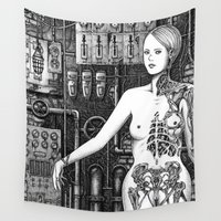 industrial Wall Tapestries featuring Industrial Aesthetics by Michael Brack