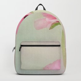 Fine Art Pink Pastel Flower Photography, Nature Backpack