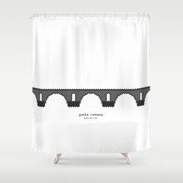 HexArchi - Portugal, Ponte de Lima, Ponte Romana Shower Curtain