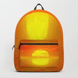 Sonne über dem Meer Backpack